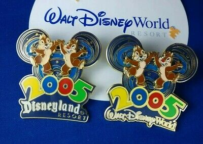 2005 Walt Disney World & Disneyland  CHIP & DALE Where the Party Never Ends Pin