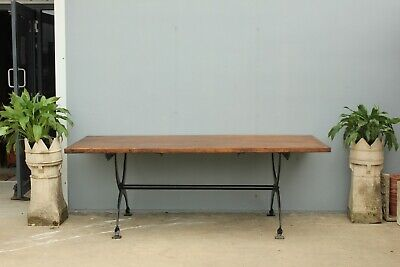 Vintage industrial haberdashery dining  table.