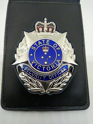 Crowd Controller Australia Star Badge With Leather ID Wallet