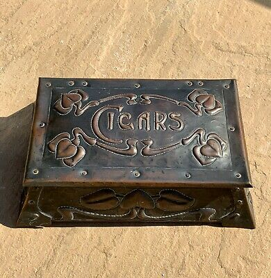 Stunning Large J & F Pool of Hayle Style Arts & Crafts Copper Cigars Box Casket