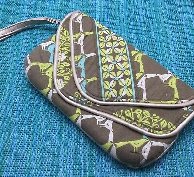 Vera Bradley Sittin In A Tree Flapper Wristlet Wallet Bag Birds Partridges Doves