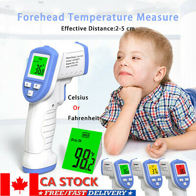 Medical Non-Contact Infrared Thermometer Gun LCD Digital Forehead Fever Adult CA