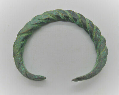 Detector Finds Ancient Viking Twisted Bronze Warriors Bracelet