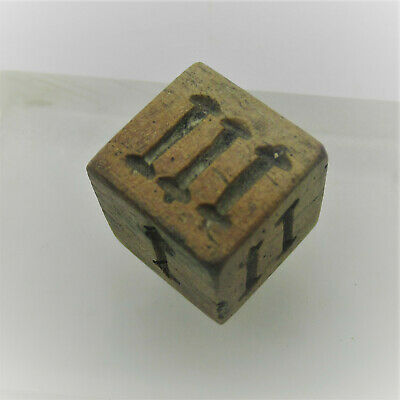 Circa 300 - 400 Ad Ancient Roman Military Bone Gaming Dice Astragalus