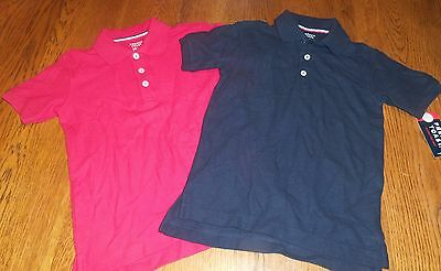 Sz 4/5 XS French Toast School Uniforms Lot of 2 Boys/Girls S/S Polo Shirts