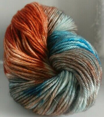 300g OF HAND-DYED 100% PURE BRITISH KNITTING WOOL,  3 SKEINS
