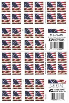 40 USPS US Flag Forever Postage Stamps - 2 Books of 20 Postage Stamps