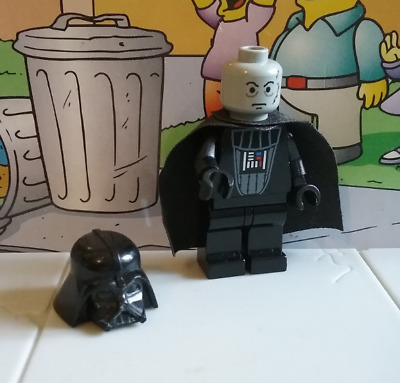 Star Wars lego mini figure DARTH VADER light grey head 7152 7200 7150 10123
