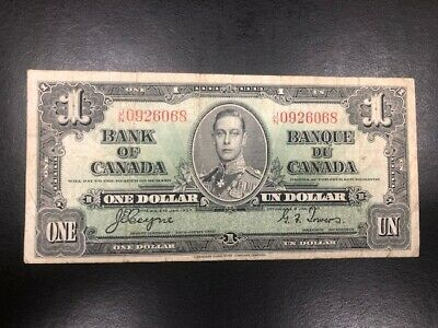 $1 1937 Bank of Canada Note one Dollar Nice Note!!  #068