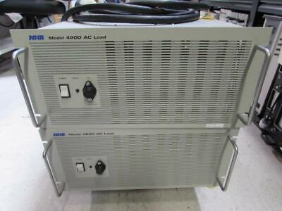 NHR Research 4600 AC Electronic Load, qty 2, 0-30A, 50-350V, 3kW