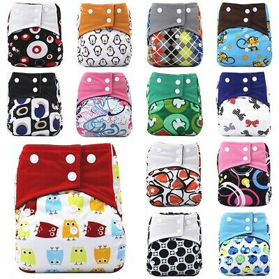 Baby Anti-side Lakage Cloth Diaper Bamboo Charcoal Lining Baby Washable Diaper