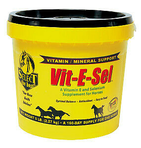 Equine Select The Best Vit-E-Sel Supplement For Horses 5 Lbs. (2.27Kg)