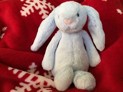 Jellycat Blue Bunny Soft Toy Rattle BNWT Baby Gift Xmas Christmas