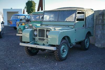 "Land Rover Series 1 80"" Lights Behind Grille Project JWR 918"