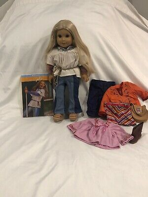 Retired American Girl Doll Julie Albright With Book, Accessories And Cloths