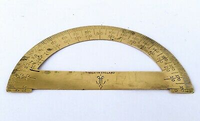 Brass Nautical Protractor MADE IN ENGLAND Brass Protractor Nautical Engineerin