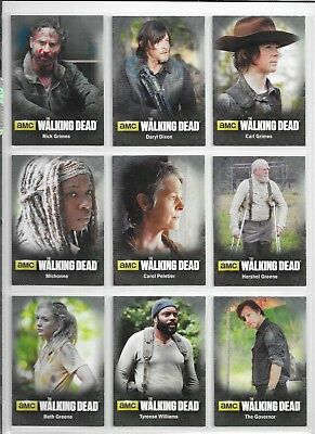 Walking Dead Season 4 Part 1 & 2 Character Poster Puzzle total 6 chase sets