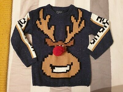 Next Boys Christmas Jumper Aged 5 Years Worn Once