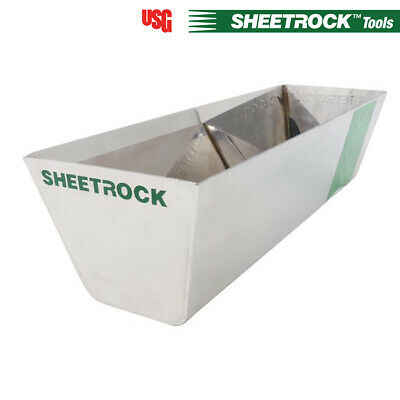 "USG Sheetrock Classic 12"" Stainless Steel Drywall Mud Pan - Contractor Grade"