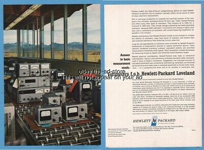 1965 Hewlett Packard Palo Alto CA 741A 3400A 3460A voltmeters photo print HP ad