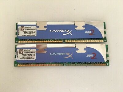 KIT MEMORIE RAM 2 x 2 GB = 4 GB DDR2 KINGSTON PC2 6400U 800 MHz 240 PIN DESKTOP