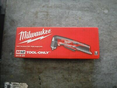 "*NEW* Milwaukee M12 Lithium-Ion Cordless 3/8"" Right Angle Drill (2415-20)"
