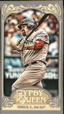 2012 Topps Gypsy Queen Mini Gypsy Queen Back #22 Kevin Youkilis - NM-MT