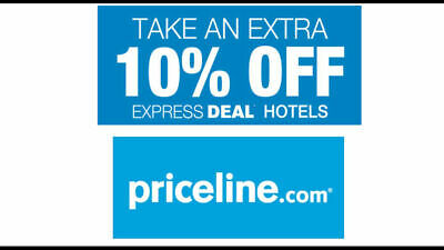 Priceline.com 10% Off promo code Express Deal No max discount limit Priceline