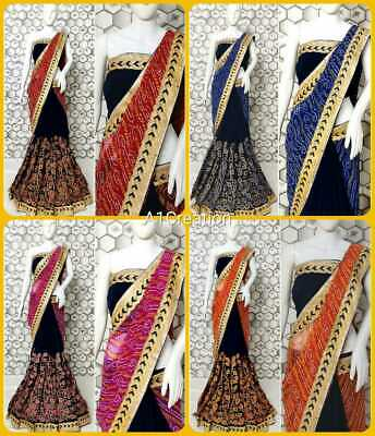 Saree Sari Traditional Wedding Partywear Sari Embroidery Designer Georgette Sari