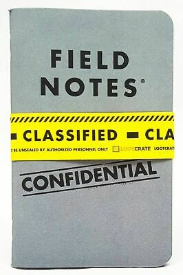 Special Agent Field Notebooks (set of 2) Loot Crate Exclusive