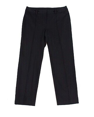 Alfani Womens Dress Pants Black Size 18W Plus Pintuck Slim Leg Stretch $79 175