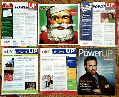 Ebay Power Up Magazine LOT of 6 Sellers Guides How to Attract Buyers 2006 - 2011