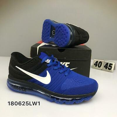 NIKE AIR MAX 2017 Men's Running Trainers Shoes Deep Royal Blue/Hyper Cobalt/Blac
