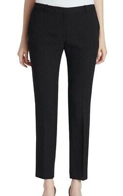 Tommy Hilfiger Womens Pants Deep Black Size 8 Dress Slim Leg Ankle $89 241