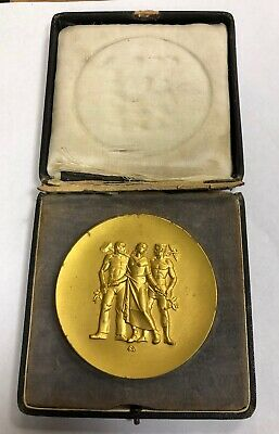 ~1930 Germany Medal Of Honor Service To Palatinate Economy 81mm Gilt Medal
