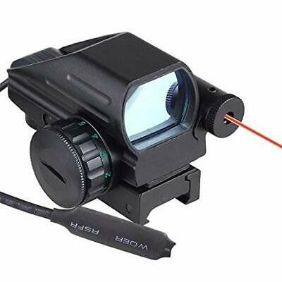 SNIPER Red Green Reflex Dot Scope Tactical Holographic 4 Reticles + Laser Sight