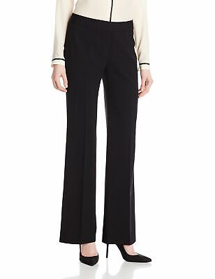 Nine West Womens Dress Pant Black Size 14 Boot Cut Tab Front Stretch $69 619