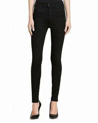 J Brand Womens Jeans Black Size 28 Button-Front Skinny Leg Stretch $50 367