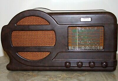 Antique Vintage Bakelite Valve Radio Tecnico Aristocrat 751 Art Deco
