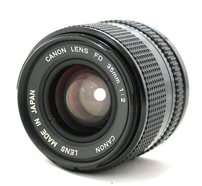 Canon New FD NFD 35mm F/2 Wide Angle MF Lens from Japan