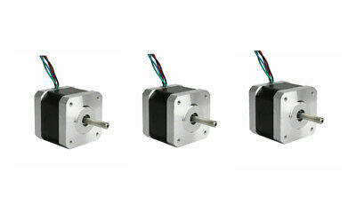 BIG SALE! 3PCS Stepper Motor Nema17 0.5Nm flat shaft 4wires 1.5A 17HS4415-04 CNC