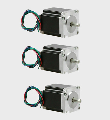 BIG SALE 3PC NEMA23 Stepper Motor 1.9Nm 23HS8440-23 flat shaft face mask machine