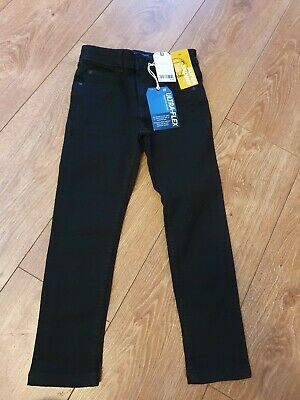 **Next Boys Age 7 Black Super Skinny Ultraflex Jeans Bnwt**
