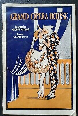 GRAND OPERA HOUSE THEATRE PROGRAMME SYDNEY AUSTRALIA 1928 'My Pal Ginger' Play