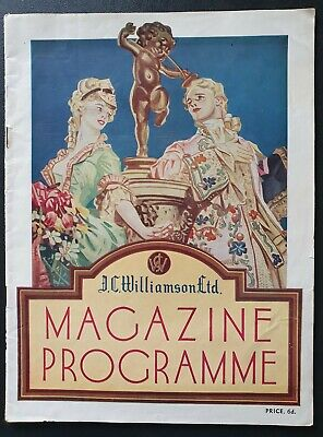 "HIS MAJESTY'S THEATRE MELBOURNE PROGRAMME 1938 Vintage "" No No Nanette "" Comedy"