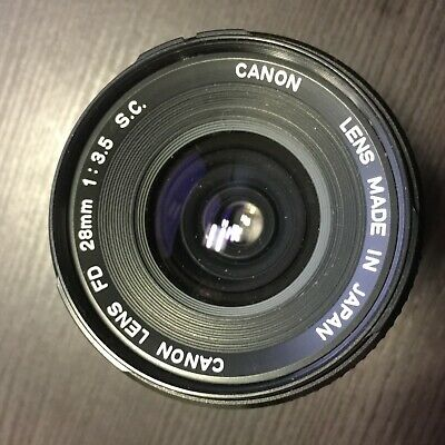 Canon FD 20mm f/3.5 f3.5 S.C Manual Focus Lens, for Canon FD Mount