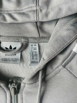 Adidas Original Ladies/Girls Grey Hoodie Size 4.