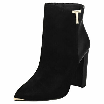 Ted Baker Women/'s Melbba Black Sz 10 Pull On Buckle Straps Ankle Boots Shoes NEW