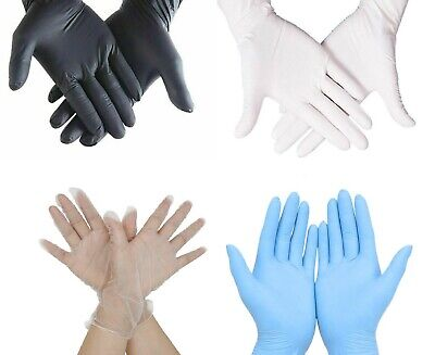 100 Heavy Duty Disposable Nitrile Latex Gloves Mechanic Garage Auto Car Valeting