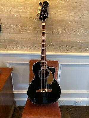Fender California Series 4-String Kingman Acoustic/Electric Bass Guitar with Gig